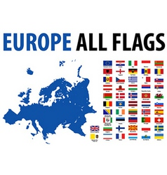 Europe flags vector