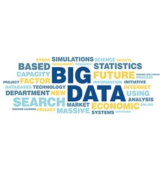 Big data concept in word tag cloud vector