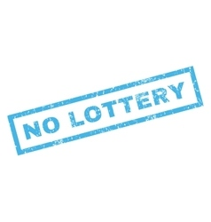 No lottery rubber stamp vector
