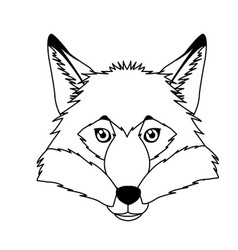 Fox mascot icon head and muzzle or snout vector