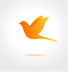 Orange bird on gray background vector