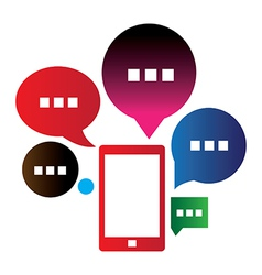 Mobile chat vector