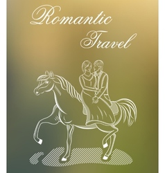 Romantic travel or wedding vector
