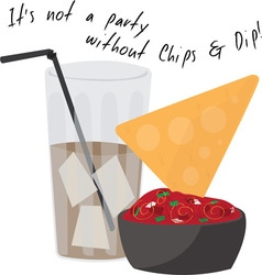 Party Chips vector image