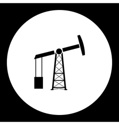 Black oil rig production isolated black icon eps10 vector