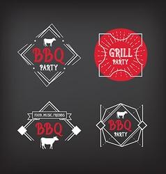 Barbecue party icon BBQ menu design vector image
