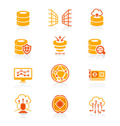 big data icons - juicy series vector image vector image