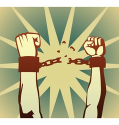breaking the chain vector image vector image
