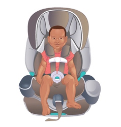 Child in safety seat vector image vector image