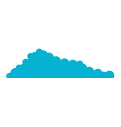 cloud blue and white background vector image
