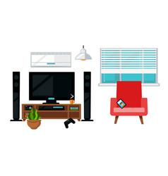 cozy living room vector image
