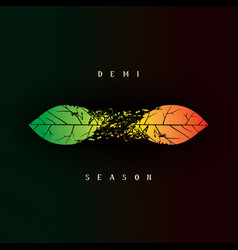 Demi seasonal creative design vector