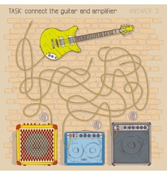 Electric guitar and amplifiers vector