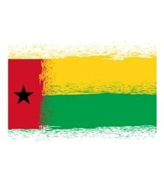 Flag of guinea bissau vector