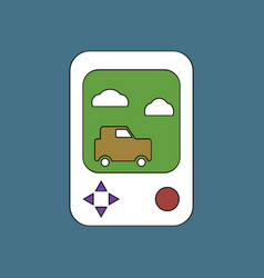 flat icon design collection portable game vector image vector image