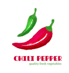 fresh chili pepper isolated on white background vector image vector image
