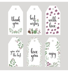 hand written calligraphy style messages vector image vector image