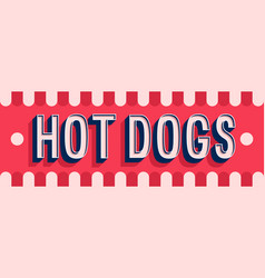 Hot dogs banner typographic design vector