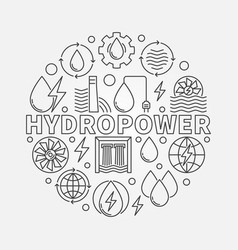 hydropower round vector image vector image