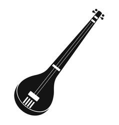 Indian guitar icon simple style vector