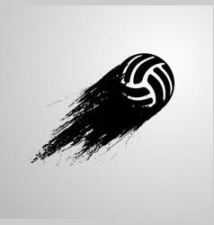 ink blots volleyball ball vector image