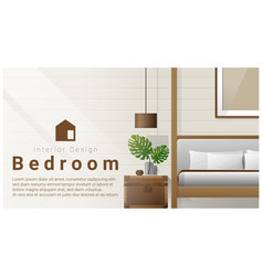 interior design with modern bedroom background vector image vector image