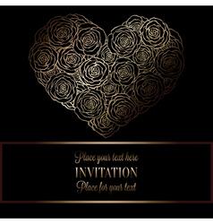 Invitation decorative golds 33 vector