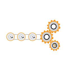 mechanical gear vector image