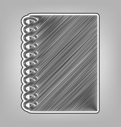 Notebook simple sign pencil sketch vector