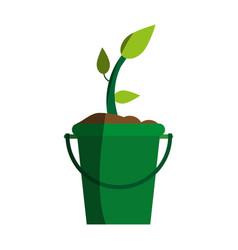 plant in bucket icon image vector image