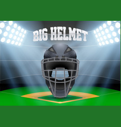 Poster template of baseball vector