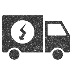 Power supply van icon rubber stamp vector