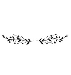 rustic branches with flower and leaves vector image vector image