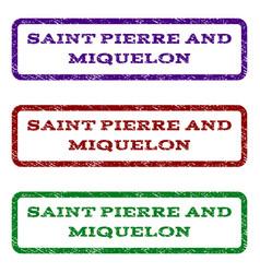 Saint pierre and miquelon watermark stamp vector