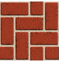 seamless brick wall made of red bricks vector image