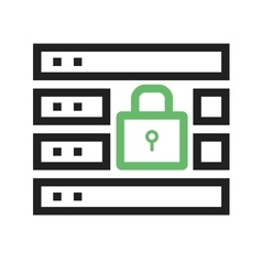 Secure Server vector image