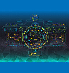 Set of hud and infographic elements futuristic vector