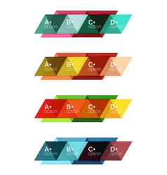 set of triangle geometric infographic vector image