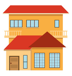 single house with red roof vector image vector image