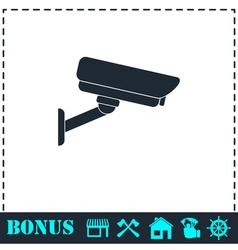 Surveillance Camera icon flat vector image