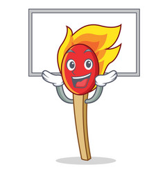 Up board match stick character cartoon vector