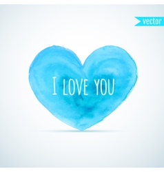 Watercolor heart for homosexual couples valentines vector