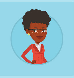 Woman wearing smart glass vector