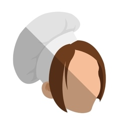 Isolated female chef head design vector