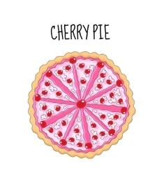 Cherry cake birthday cake Baking with cherries vector image