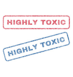 Highly toxic textile stamps vector