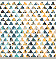 Retro triangles grunge seamless pattern vector