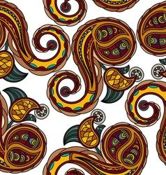 Seamless texture with Ukrainian national motifs vector image