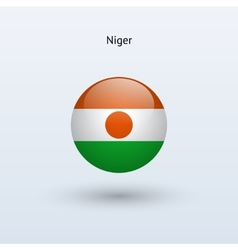 Niger round flag vector