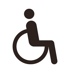 Disabled handicap icon vector
